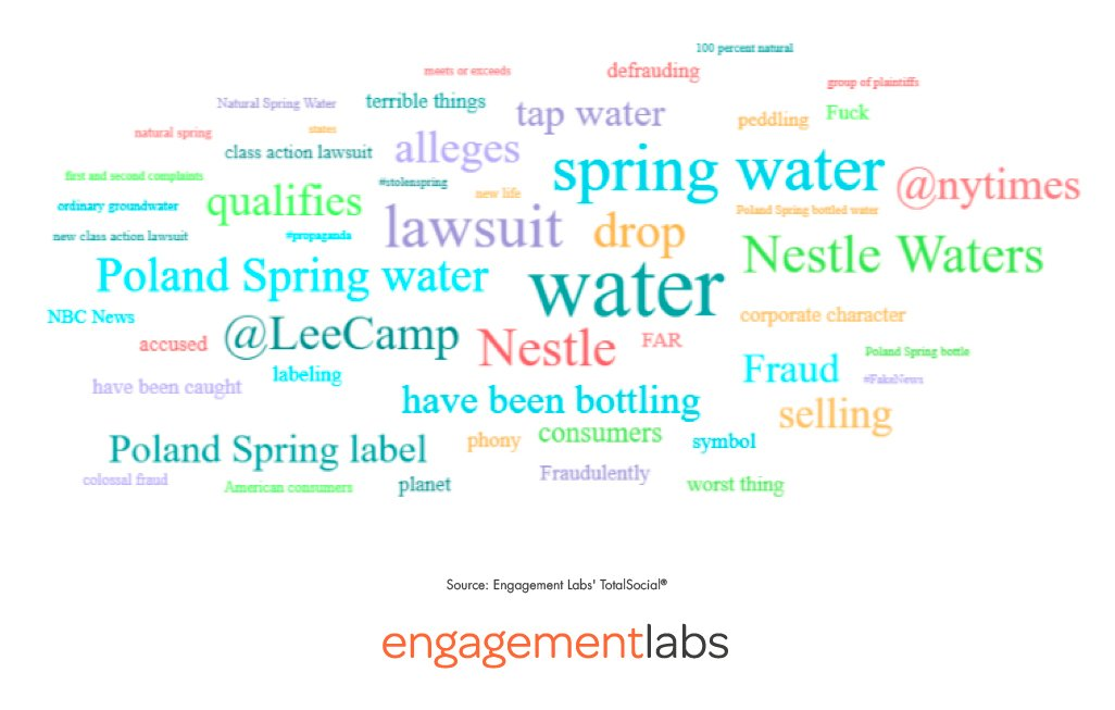 2019 Poland Spring Online Word Cloud