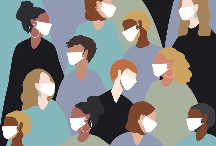 menandwomenwearingmasks