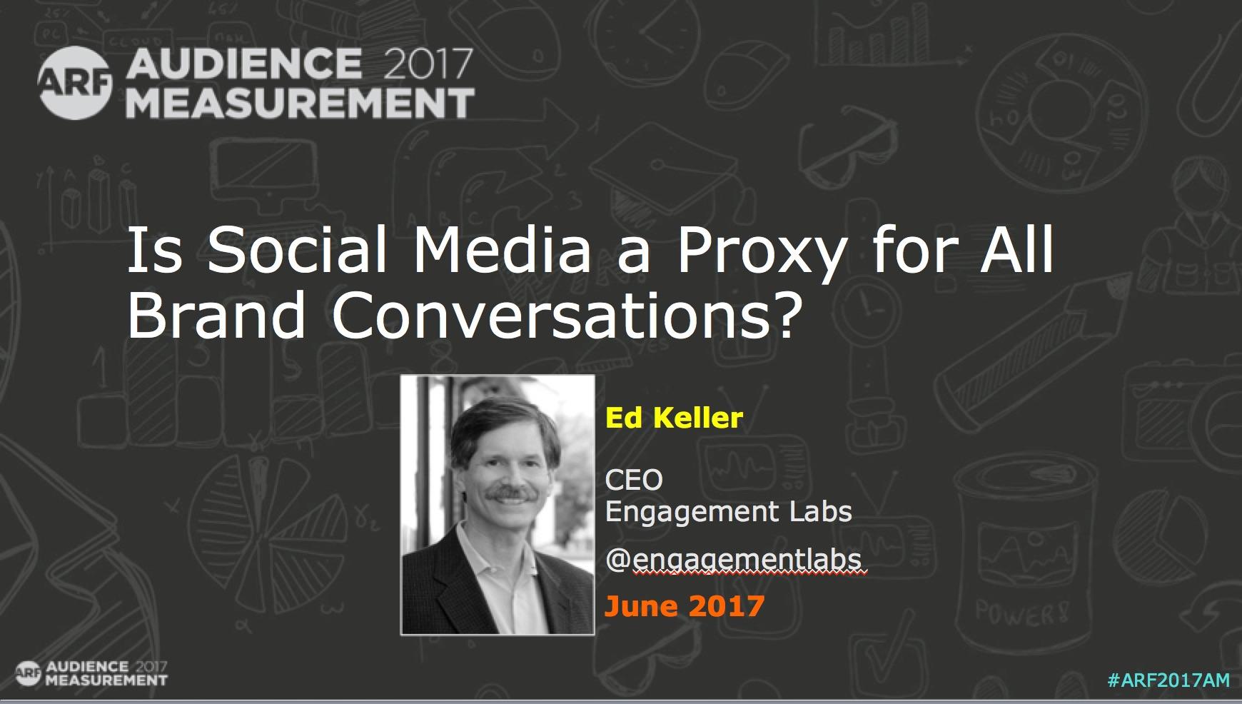 Is Social Media a Good Measure of All Consumer Conversations?